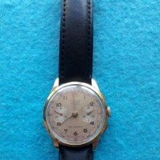 Relojes de pulsera: RELOJ DE ORO MARCA TITUS TELEMETRE GENEVE. CLÁSICO DE CABALLERO. FUNCIONANDO. Lote 135654483