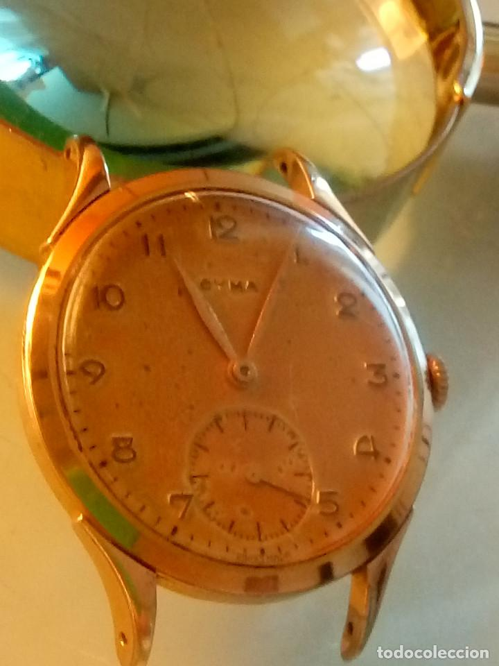 Relojes de pulsera: CYMA - MANUAL. AÑOS 50. P.ORO 20 MICRAS. 38.4 S/C 40.1 C/C.FUNCIONANDO. INFO EN DESCRIPCION. - Foto 5 - 135866166