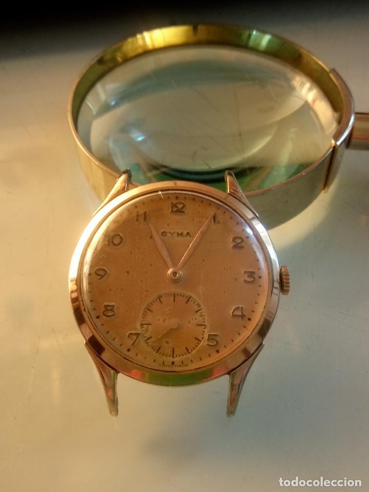 Relojes de pulsera: CYMA - MANUAL. AÑOS 50. P.ORO 20 MICRAS. 38.4 S/C 40.1 C/C.FUNCIONANDO. INFO EN DESCRIPCION. - Foto 6 - 135866166