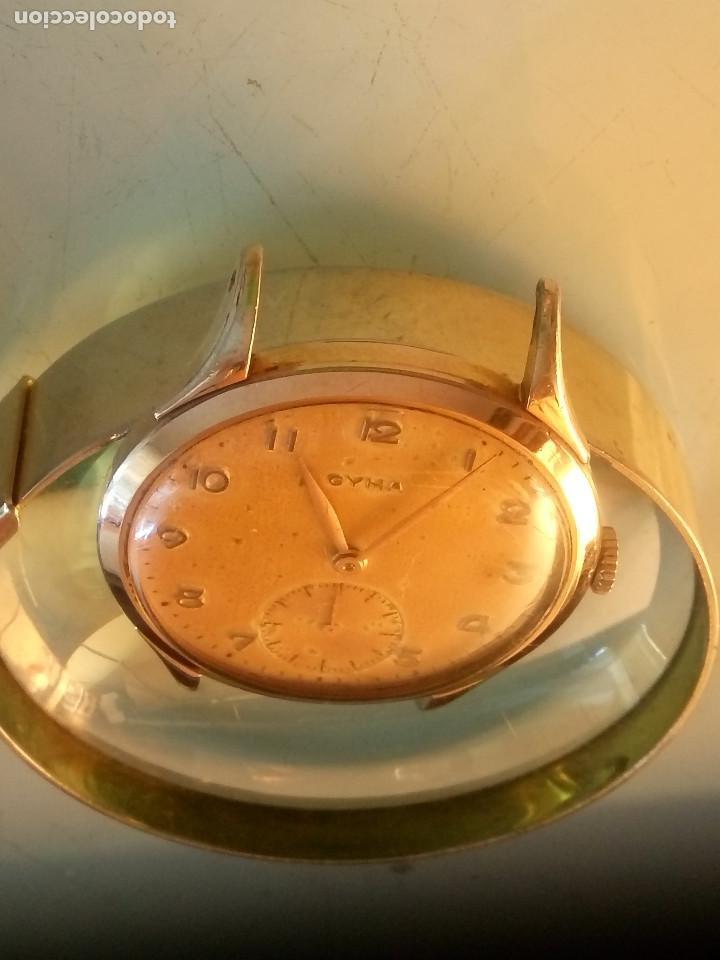 Relojes de pulsera: CYMA - MANUAL. AÑOS 50. P.ORO 20 MICRAS. 38.4 S/C 40.1 C/C.FUNCIONANDO. INFO EN DESCRIPCION. - Foto 8 - 135866166