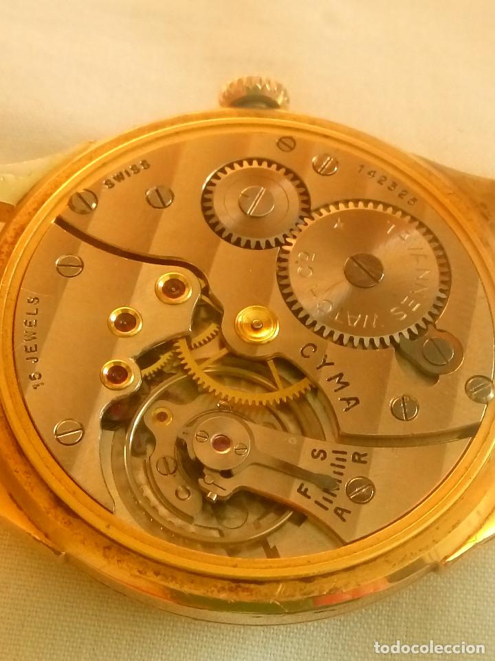 CYMA - MANUAL. AÑOS 50. P.ORO 20 MICRAS. 38.4 S/C 40.1 C/C.FUNCIONANDO. INFO EN DESCRIPCION. (Relojes - Pulsera Carga Manual)