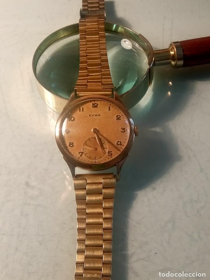 Relojes de pulsera: CYMA - MANUAL. AÑOS 50. P.ORO 20 MICRAS. 38.4 S/C 40.1 C/C.FUNCIONANDO. INFO EN DESCRIPCION. - Foto 3 - 135866166