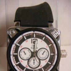 Relojes de pulsera: RELOJ DE PULSERA CON ESFERA BLANCO DE PILAS. Lote 136291802