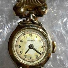 Relojes de pulsera: ANTIGUO TAVANNES DE CUERDA , SWISS MADE , CHAPADO EN ORO, BUÉN FUNCIONAMIENTO.. Lote 136293902