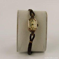 Relojes de pulsera: RELOJ PARA MUJER CARGA MANUAL -PLATA DORADA CON CONTRASTE - B.W.C. LONDRES, ART DECÓ CA.1930-40. Lote 136388250