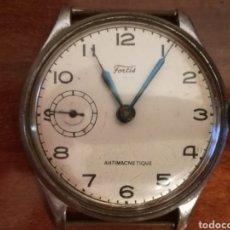 Relojes de pulsera: ANTIGUO RELOJ PULSERA DE CUERDA - CABALLERO - FORTIS - NO FUNCIONA - 3,3CM MAS CORONA - PLATEADO. Lote 136461588