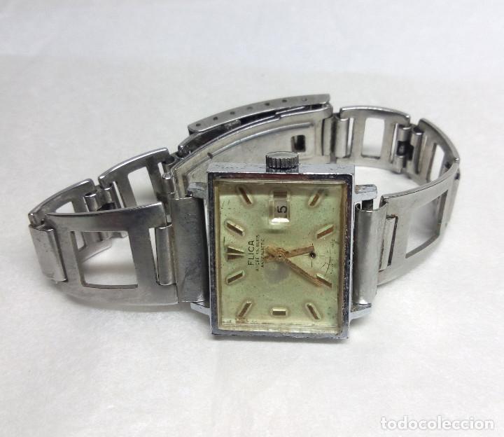 Relojes de pulsera: RELOJ VINTAGE FLICA DE CARGA MANUAL, SWISS MADE - FUNCIONANDO - CAJA 26 mm. - Foto 3 - 136479458
