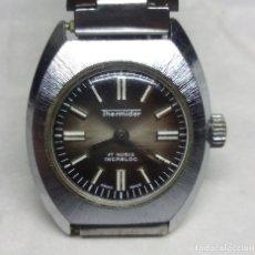 Relojes de pulsera: RELOJ VINTAGE THERMIDOR DE CARGA MANUAL PARA MUJER, SWISS MADE - FUNCIONANDO - CAJA 23 MM.. Lote 136479866