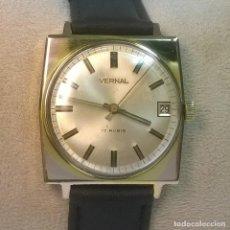 Relojes de pulsera: RELOJ DE CUERDA O CARGA MANUAL MARCA VERNAL, VINTAGE, COLECCIONABLE, FUNCIONANDO BIEN . Lote 136526450