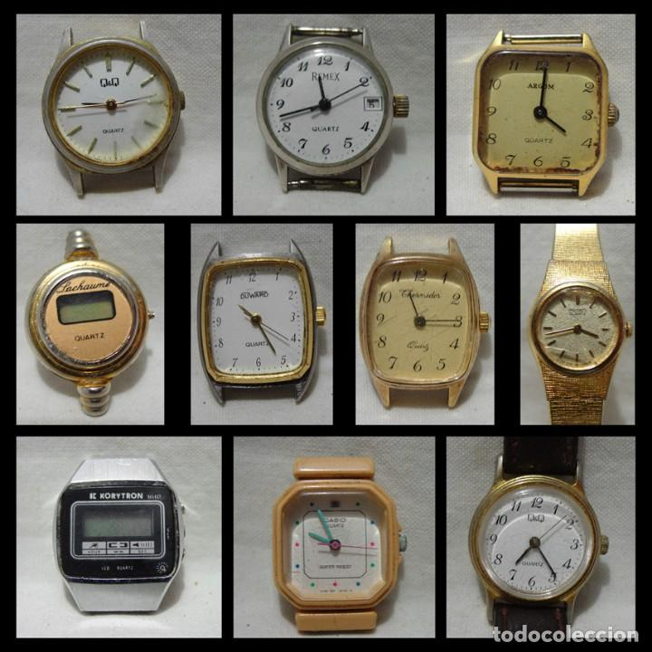 LOTE 10 RELOJES A PILA-THERMIDOR-DUWARD-REMEX- LACHAUME-Q Q-KORYTRON-CASIO-SEIKO-ARGOM- (Relojes - Pulsera Carga Manual)