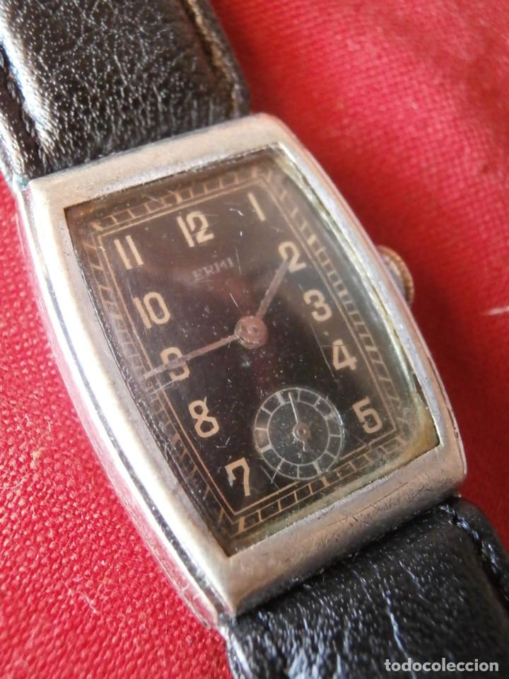ANTIGUO RELOJ ALEMÁN DE PULSERA A CUERDA MANUAL MECÁNICA DE LA MARCA ERMI AÑOS 1940 1950 Y FUNCIONA (Relojes - Pulsera Carga Manual)