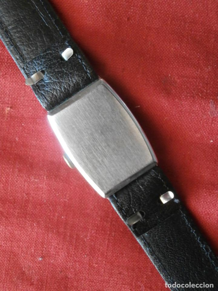 Relojes de pulsera: antiguo reloj alemán de pulsera a cuerda manual mecánica de la marca ERMI años 1940 1950 y funciona - Foto 2 - 137186170