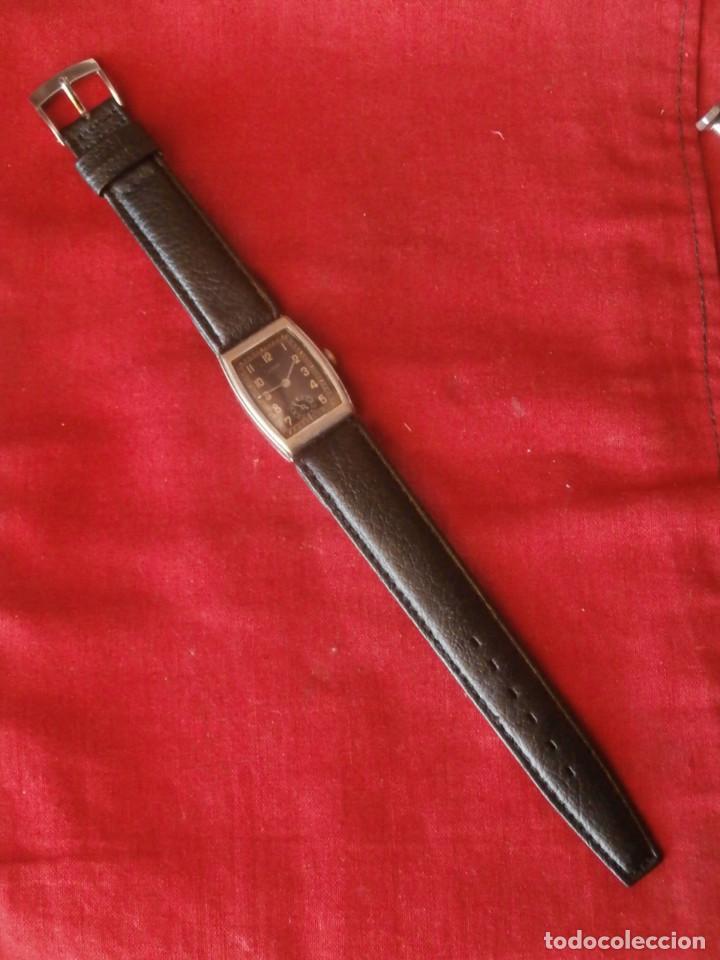 Relojes de pulsera: antiguo reloj alemán de pulsera a cuerda manual mecánica de la marca ERMI años 1940 1950 y funciona - Foto 3 - 137186170
