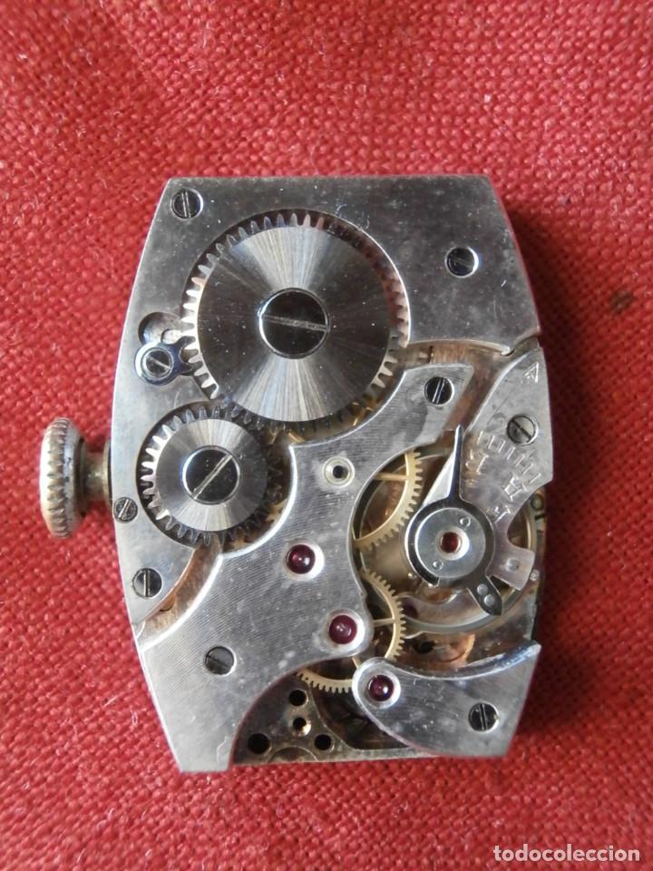 Relojes de pulsera: antiguo reloj alemán de pulsera a cuerda manual mecánica de la marca ERMI años 1940 1950 y funciona - Foto 6 - 137186170
