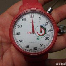 Relojes de pulsera: CRONO ANTIGUO DE PULSERA PARA ARBITROS DE FÚTBOL CARGA MANUAL. Lote 137209450