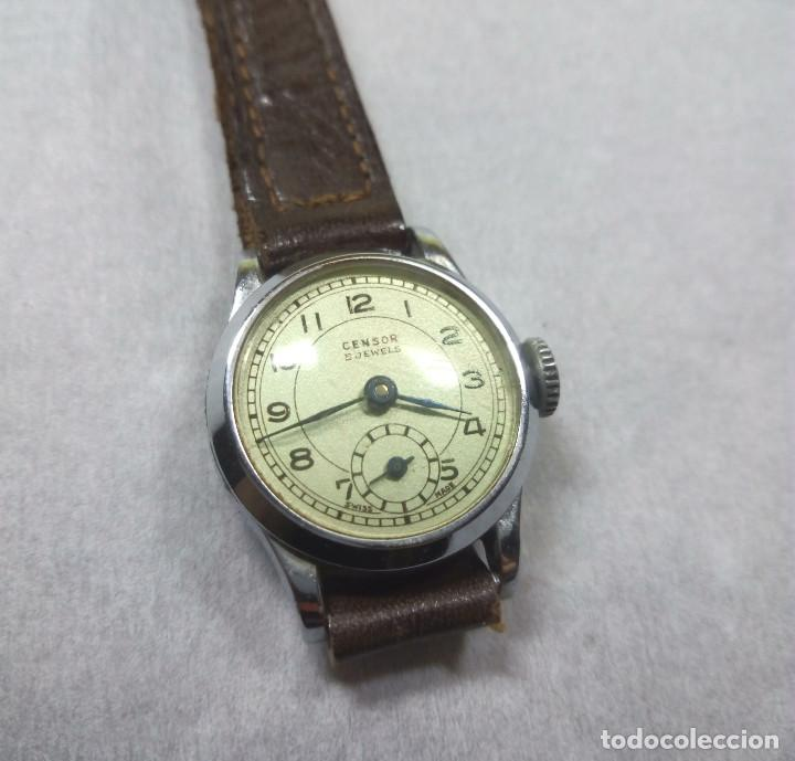 Relojes de pulsera: RELOJ CENSOR DE CARGA MANUAL 5 JEWELS SWISS MADE, PARA MUJER - NO FUNCIONA - CAJA 2 cm. - Foto 2 - 137330618