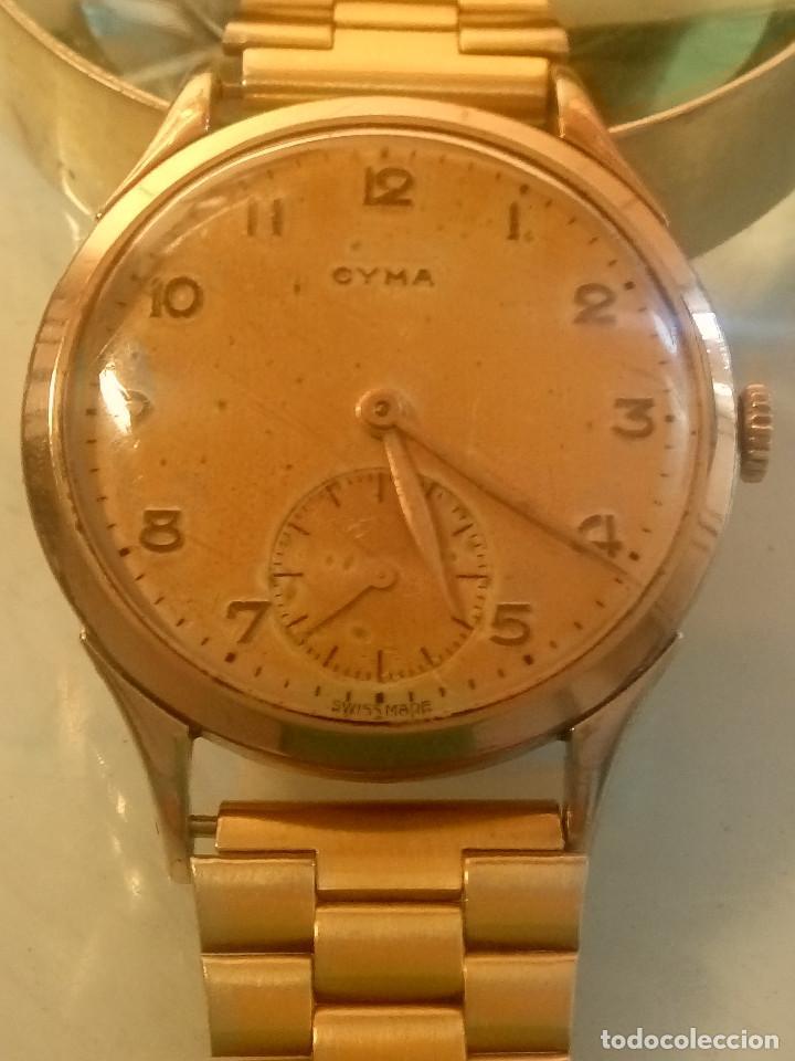 Relojes de pulsera: CYMA - MANUAL. AÑOS 50. P.ORO 20 MICRAS. 38.4 S/C 40.1 C/C.FUNCIONANDO. INFO EN DESCRIPCION. - Foto 4 - 135866166
