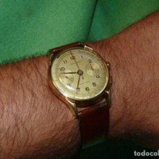 Relojes de pulsera: ELEGANTE RELOJ CRONOMETRO MINIMAX CALIBRE LANDERON 48 SWISS MADE 17 RUBIS AÑOS 50. Lote 137462154