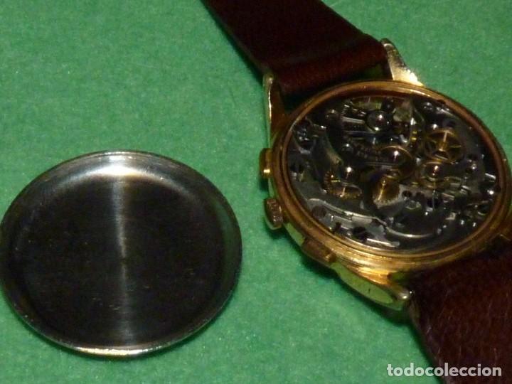 Relojes de pulsera: ELEGANTE RELOJ CRONOMETRO MINIMAX CALIBRE LANDERON 48 SWISS MADE 17 RUBIS AÑOS 50 - Foto 7 - 137462154