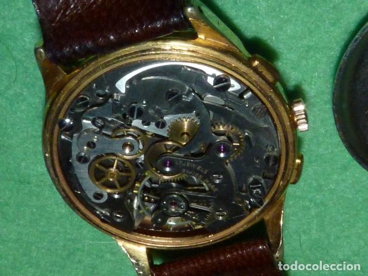 Relojes de pulsera: ELEGANTE RELOJ CRONOMETRO MINIMAX CALIBRE LANDERON 48 SWISS MADE 17 RUBIS AÑOS 50 - Foto 8 - 137462154