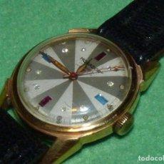 Relojes de pulsera: ESPECIAL RELOJ MOGADOR RARO ART DECO BELLA ESFERA CON PEDRERÍA ORIGINAL AÑOS 40 SEGUNDERO CENTRAL. Lote 137465310