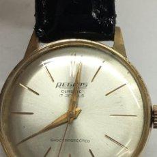Relojes de pulsera: RELOJ SUIZO ,CARGA MANUAL CHAPADO EN ORO ,RECIEN REVISADO POR RELOJERO. Lote 137527354