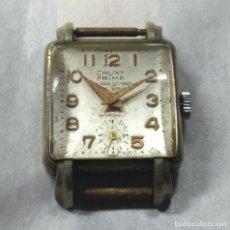 Relojes de pulsera: RELOJ CAUNY PRIMA CARGA MANUAL 15-R, SWISS MADE - CAJA 2 CM - NO FUNCIONA. Lote 137638338