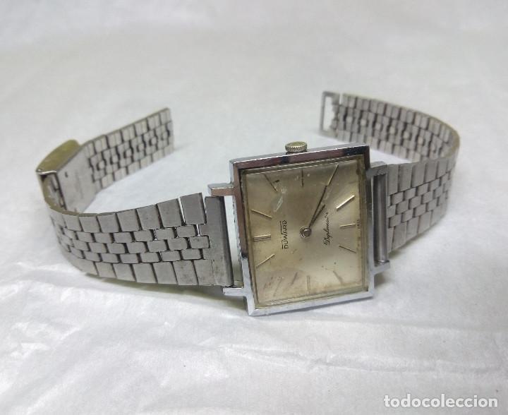 Relojes de pulsera: RELOJ DUWARD DIPLOMATIC DE CARGA MANUAL 15-R, SWISS MADE - CAJA 3 cm. - FUNCIONANDO - Foto 2 - 137642498