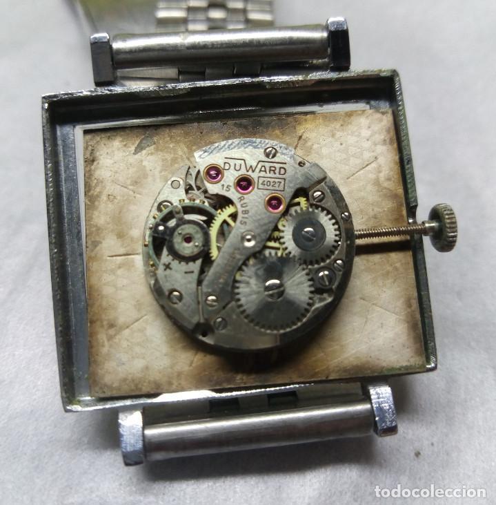 Relojes de pulsera: RELOJ DUWARD DIPLOMATIC DE CARGA MANUAL 15-R, SWISS MADE - CAJA 3 cm. - FUNCIONANDO - Foto 4 - 137642498