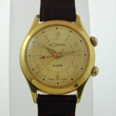 Relojes de pulsera: LE COULTRE ALARM PLAQUÈ ORO 18KT.. Lote 137679622