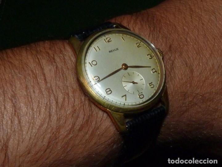 ELEGANTE RELOJ REVUE CALIBRE 59 RARO 21 RUBIS AÑOS 60 COLECCION (Relojes - Pulsera Carga Manual)
