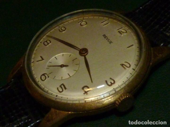 Relojes de pulsera: ELEGANTE RELOJ REVUE CALIBRE 59 RARO 21 RUBIS AÑOS 60 COLECCION - Foto 2 - 137937870