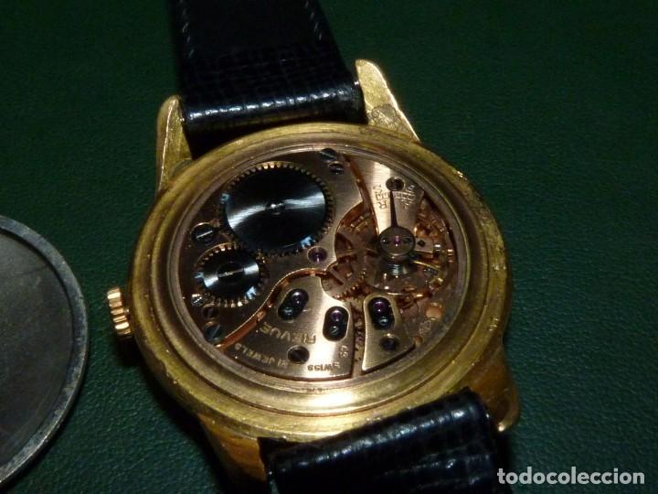 Relojes de pulsera: ELEGANTE RELOJ REVUE CALIBRE 59 RARO 21 RUBIS AÑOS 60 COLECCION - Foto 6 - 137937870