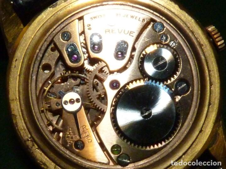 Relojes de pulsera: ELEGANTE RELOJ REVUE CALIBRE 59 RARO 21 RUBIS AÑOS 60 COLECCION - Foto 8 - 137937870