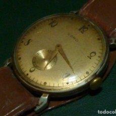 Relojes de pulsera: RARO RELOJ CORD JUVENIA CALIBRE 006 RARO ART DECO FUNCIONANDO AÑOS 30 ASAS FIJAS. Lote 137942178