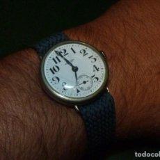 Relojes de pulsera: BELLO RELOJ GJ MILITAR 15 RUBIS PLATA PRINCIPIO XX ESFERA PORCELANA 1ª WW TRINCHERA. Lote 137943130
