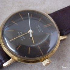 Relojes de pulsera: RELOJ RUSO POLJOT DE LUXE, ULTRAPLANO. ESFERA NEGRA, UNION SOVIETICA. Lote 137956678