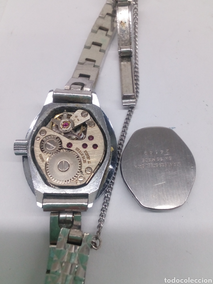 Relojes de pulsera: Reloj Lanco 17 rubis en funcionamiento vintage - Foto 3 - 137969342