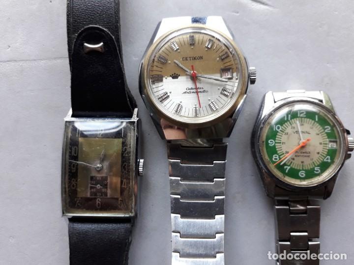 LOTE 3 RELOJES MECÁNICOS PARA CABALLERO (Relojes - Pulsera Carga Manual)