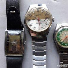 Relojes de pulsera: LOTE 3 RELOJES MECÁNICOS PARA CABALLERO. Lote 138177318