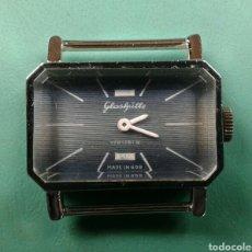 Relojes de pulsera: ANTIGUO RELOJ PULSERA CARGA MANUAL 17 JEWELS MARCA GLASHUTTE. Lote 138556372