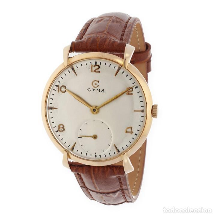 CYMA VINTAGE MANUAL ORO 18K RELOJ PARA CABALLERO (Relojes - Pulsera Carga Manual)