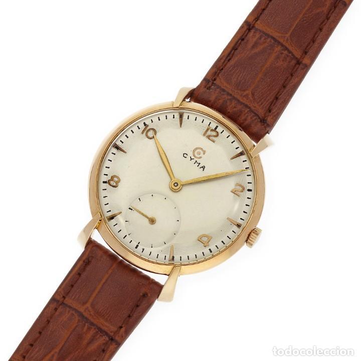 Relojes de pulsera: Cyma Vintage Manual Oro 18k Reloj para Caballero - Foto 3 - 138743574