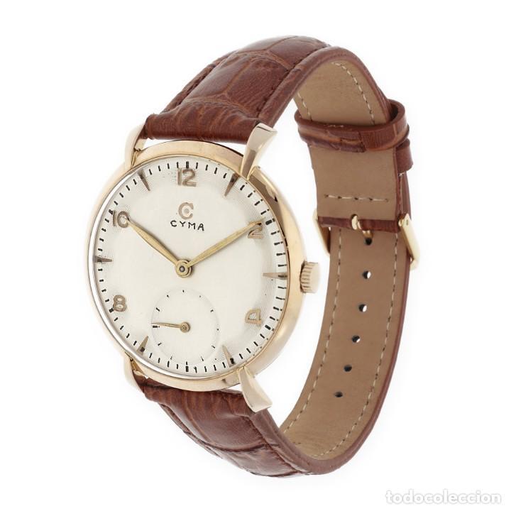 Relojes de pulsera: Cyma Vintage Manual Oro 18k Reloj para Caballero - Foto 4 - 138743574