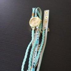 Relojes de pulsera: RELOJ PULSERA COLOR AZUL CLARO. Lote 138893338