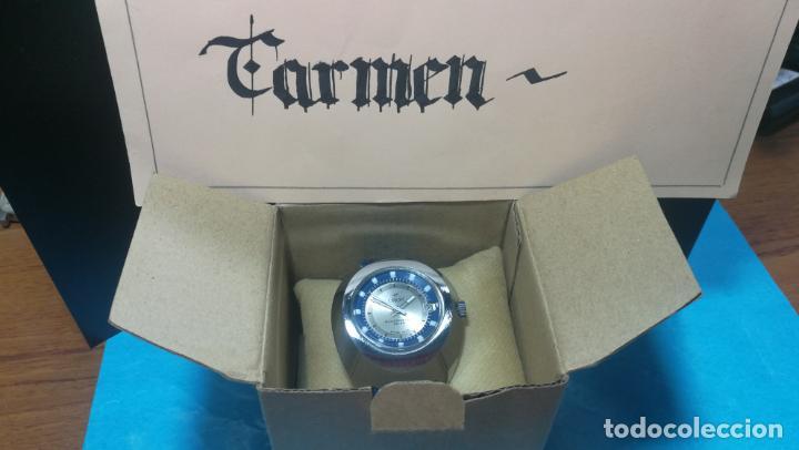 Relojes de pulsera: Botito reloj Orion grande de caballero con botita esfera azul marino, funcionando - Foto 2 - 139002582