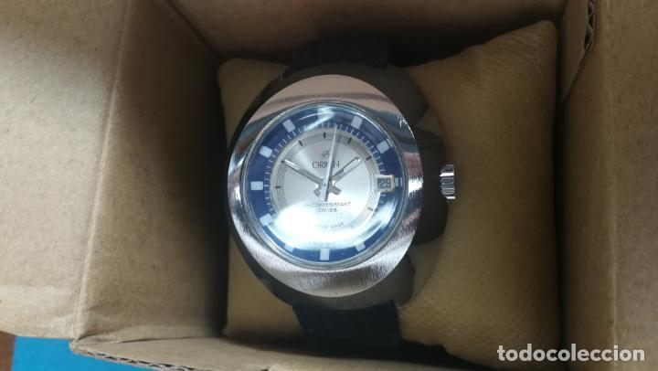 Relojes de pulsera: Botito reloj Orion grande de caballero con botita esfera azul marino, funcionando - Foto 6 - 139002582