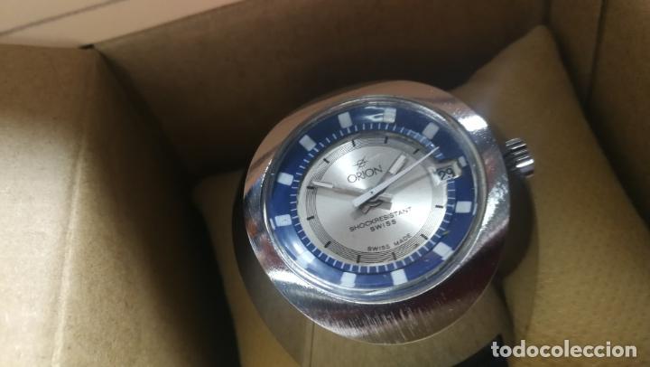 Relojes de pulsera: Botito reloj Orion grande de caballero con botita esfera azul marino, funcionando - Foto 9 - 139002582