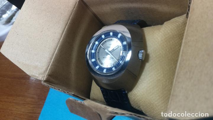 Relojes de pulsera: Botito reloj Orion grande de caballero con botita esfera azul marino, funcionando - Foto 12 - 139002582