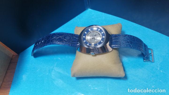 Relojes de pulsera: Botito reloj Orion grande de caballero con botita esfera azul marino, funcionando - Foto 13 - 139002582